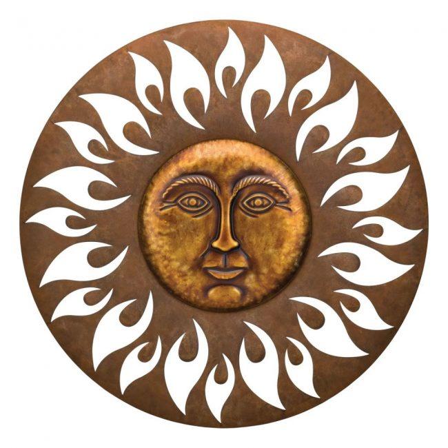 gigi brown aurora circle sun wall decor