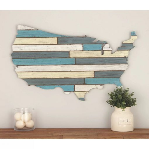 giselle distressed wood usa wall décor