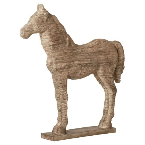 gwyn brown resin horse table decor statue