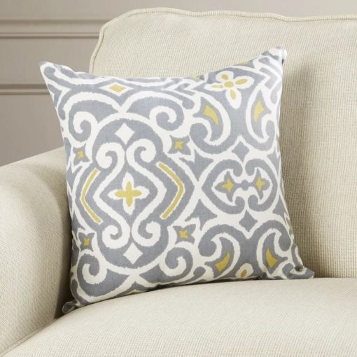 harmony 60 polyester and 40 cotton damask throw pillow