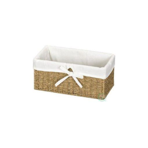 havana neutral hue seagrass wicker basket with liner