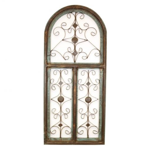 helen distressed architectural window wall décor