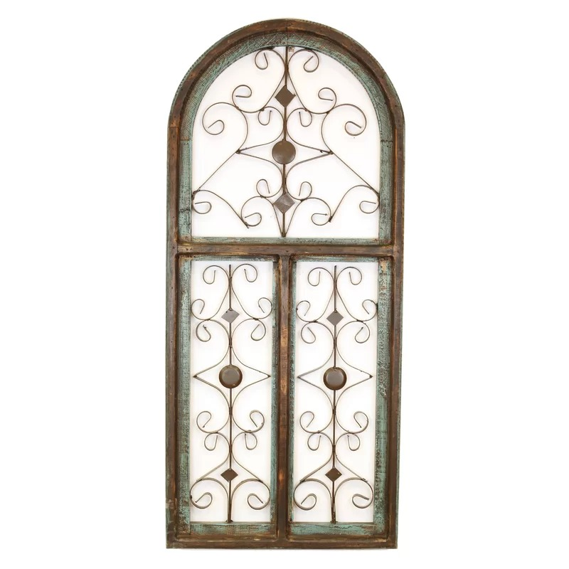 Helen Distressed Architectural Window Wall Décor Mocome