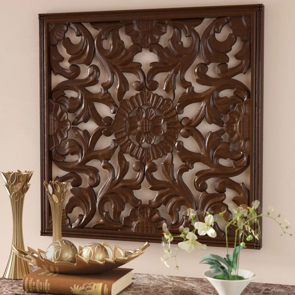 hollie square handcrafted bronze medallion wall décor