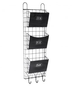hudson hanging galvanized metal 3 pockets wire wall storage
