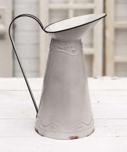 ibiza silver narrow pitcher with large spout