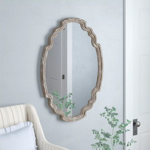 jaime irregular wood accent mirror