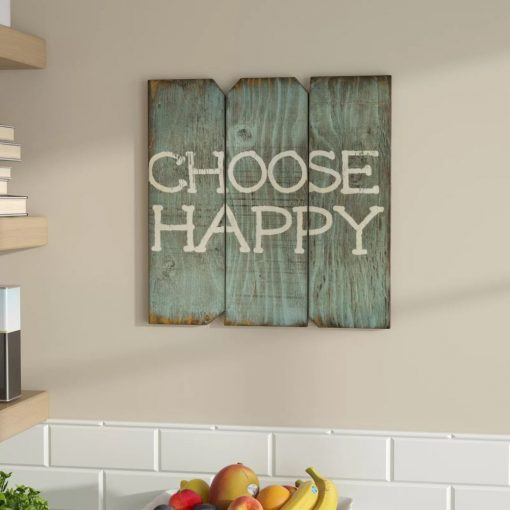 jaime rustic choose happy wood wall décor
