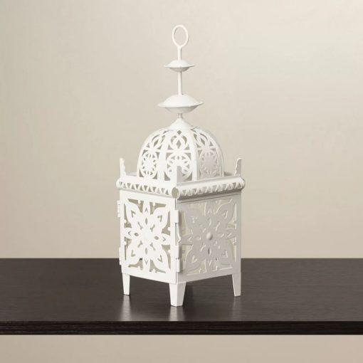 jennifer intricate ivory iron lantern