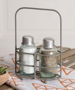jensen salt and pepper carrier with metal shakers