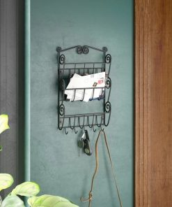jessie metal wall storage organizer with key hooks