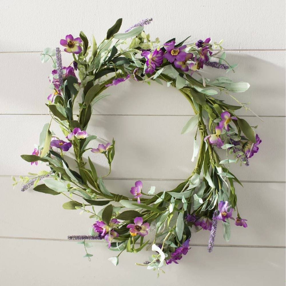 jillian floral wreath with daisy and lavender