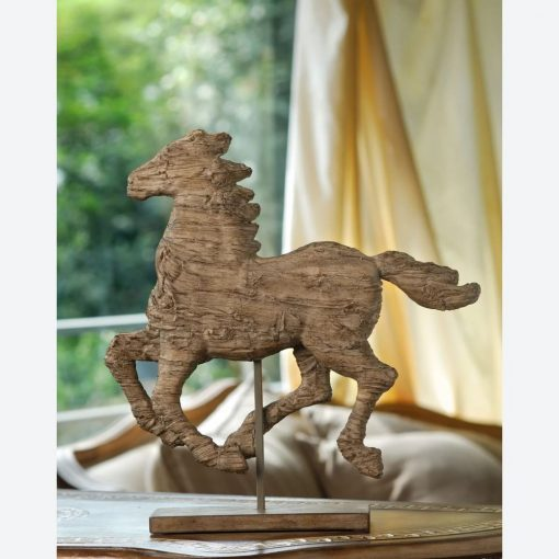 jillian resin free standing stallion decor