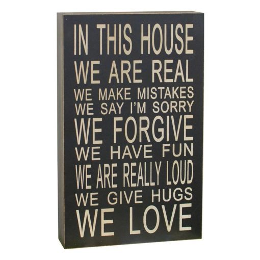 jordana in this house we are real chunky wisdom sign wall décor