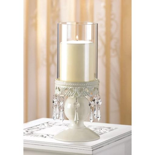 julia lacy base and drops of crystal candle stand