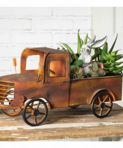 kaiya rustic charleston pick up truck planter
