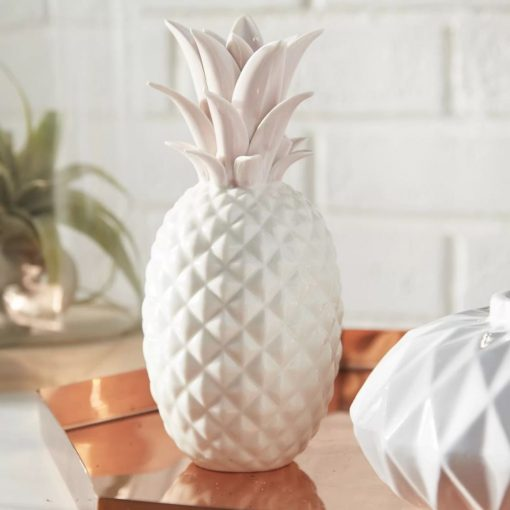 keilani modern contemporary ceramic pineapple figurine