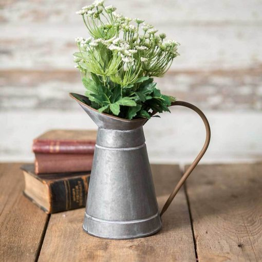 kensington galvanized narrow milk pitcher