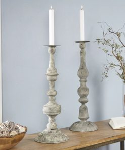 kiera 2 piece metal candlestick holders set