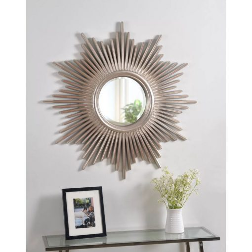 kiera starburst glam beveled accent wall mirror