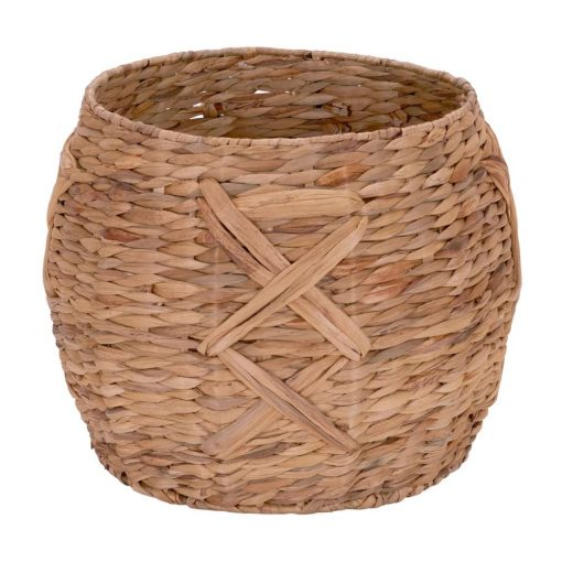 kincaid brown water hyacinth wide and round wicker basket
