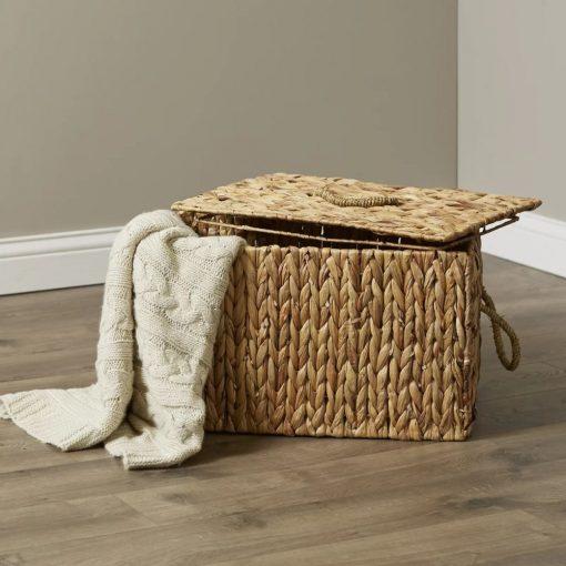 kirb wicker rattan basket with lid
