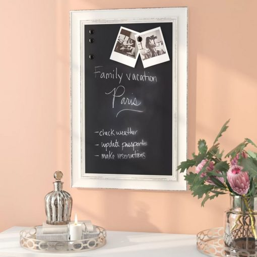 kore plastic frame wall mounted chalkboard