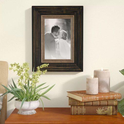 krizia two tone walnut picture frame