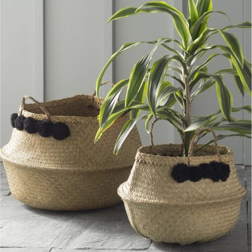 whitney beige 4 piece wicker basket set