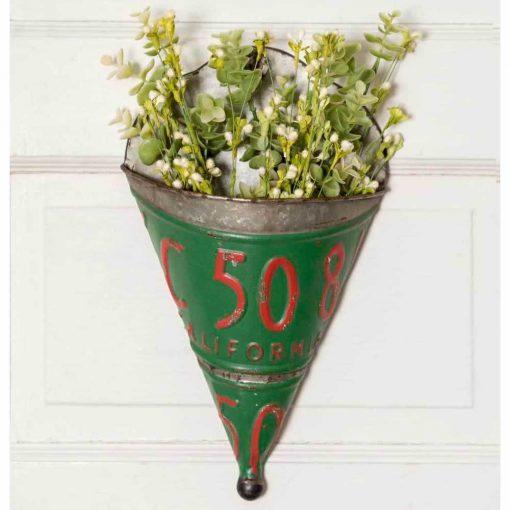 laurentia galvanized license plate wall planter set of