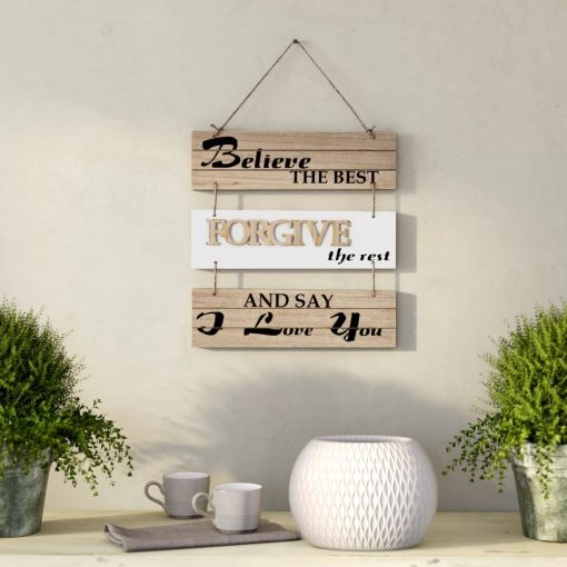 layla charming believe the best forgive the rest and say i love you sectioned wall décor