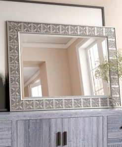 les rectangle medallion accent mirror
