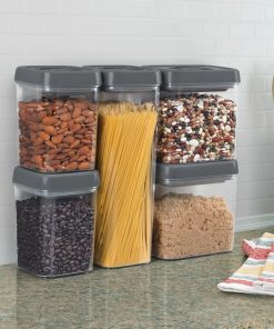 leslie plastic twist lock kitchen canister set of