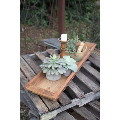 lima reclaimed wooden rectangle tray