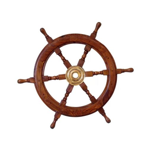loretta brown wood ship wheel wall décor