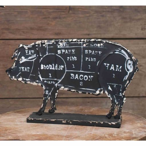 magritte cute butchers pork chart set of 2