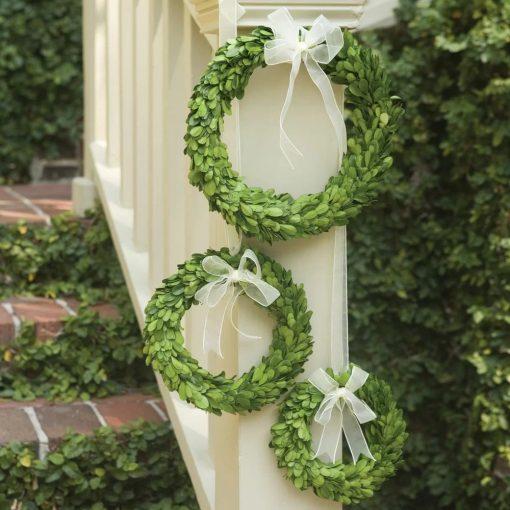 malia preserved greens boxwood wreath set of
