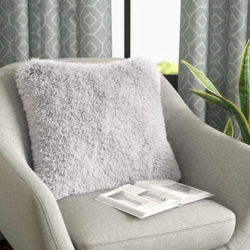 mandie comfy plush faux fur throw pillow