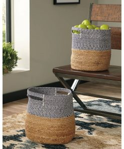 mara 2 piece oval wicker basket set