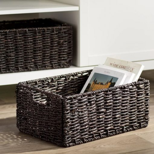 marietta brown 2 piece foldable corn husk basket set