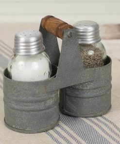 marietta gray salt and pepper can caddy set of