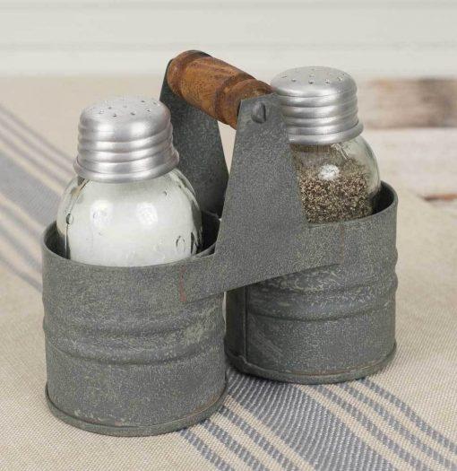 marietta gray salt and pepper can caddy set of
