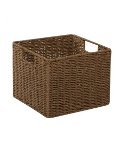 marimekko paper rope powder coated wire wicker basket