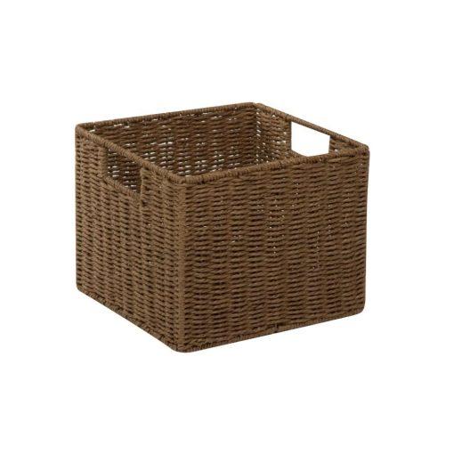 marimekko paper rope powder coated wire wicker basket