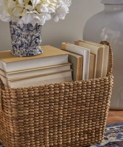 marina brown woven storage rattan basket