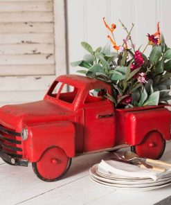 marquis mini red truck garden planter