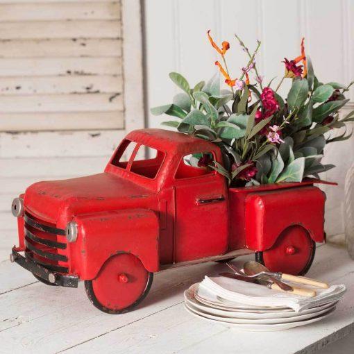 marquis mini red truck garden planter