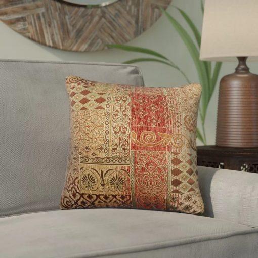 maru 50 polyester and 50 rayon throw pillow