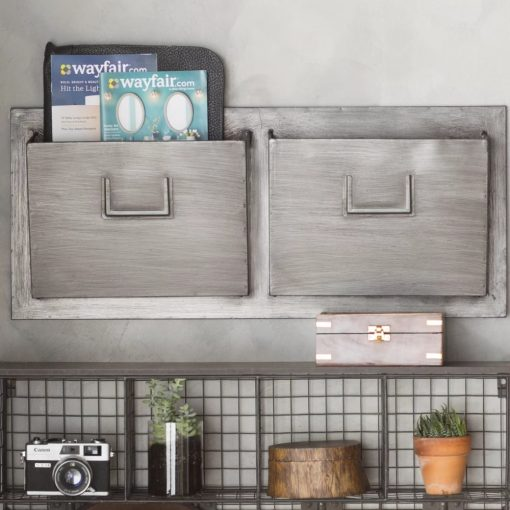 maurecia rustic gray industrial wall mounted mailbox
