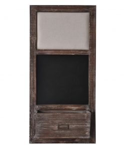 maya wood frame chalkboard with mail storage